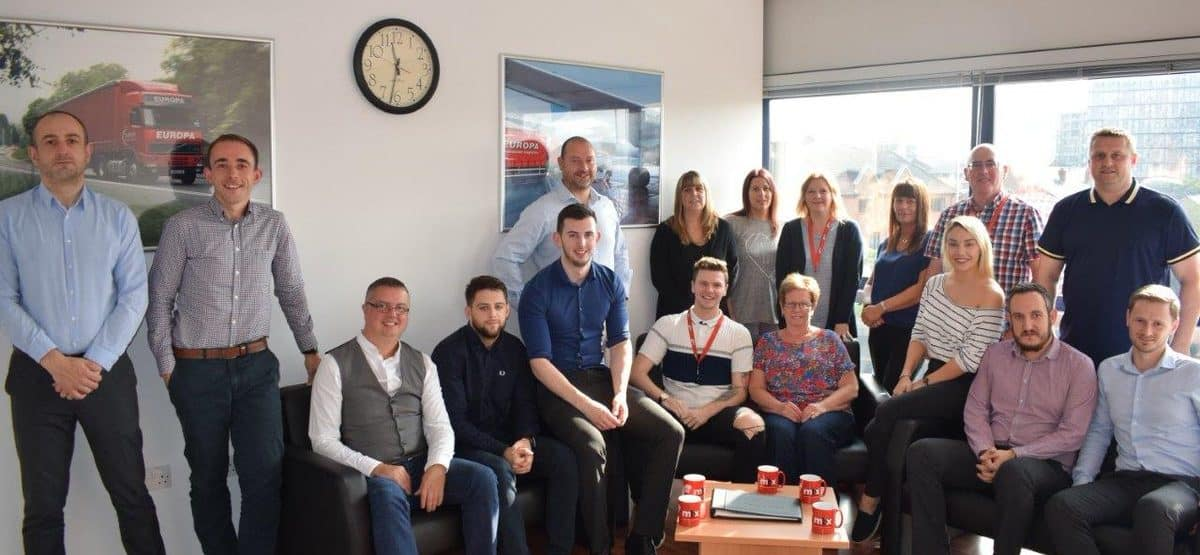 The Europa Story - Europas road freight team with Group manager Adrian Redmile