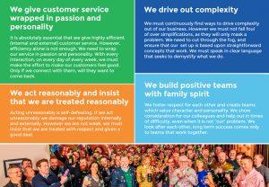 The Europa Story, company values and customer service