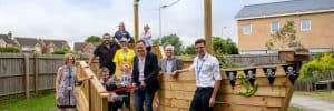 Europa charity unveil playground equipment at Darent Valley Hospital
