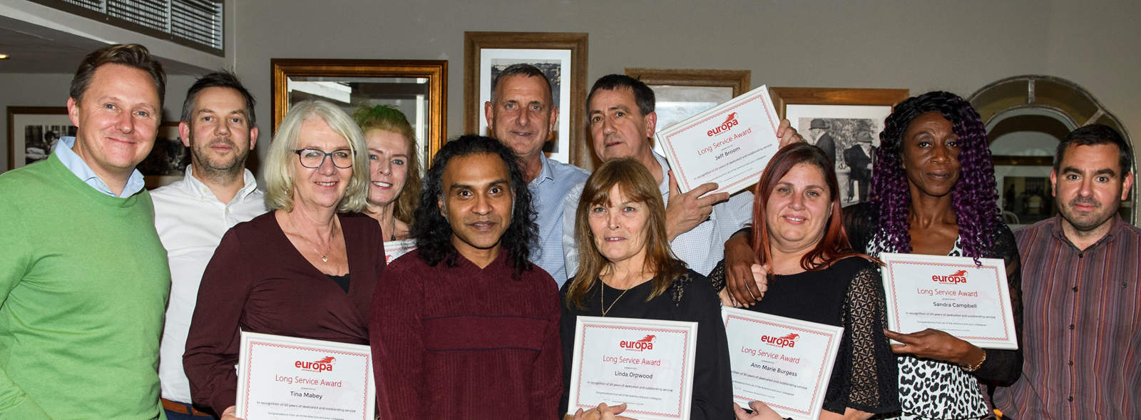 Long Service Awards are celebrated at Europa Worldwide Group