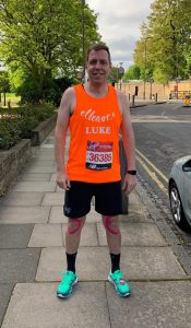 Luke Cole, Europa Road ready to run the London Marathon 2019