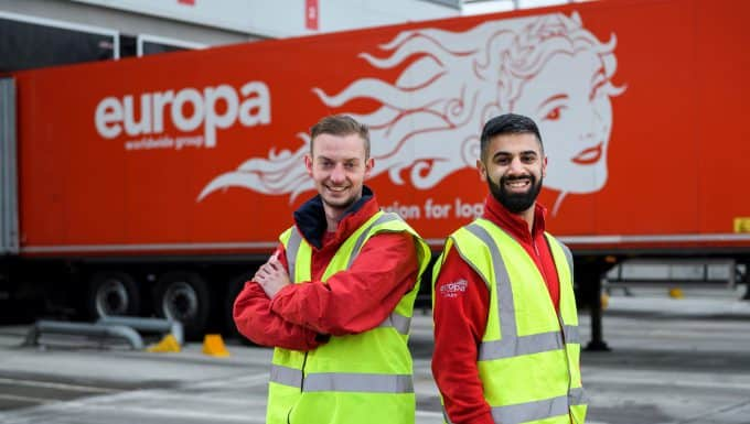 Fast track to success opens up for two Europa apprentices