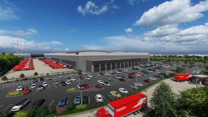 Work has started on Europa's new £60 million state-of-the-art logistics facility